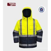 Venda quente EN20471 Hi-Vi jaqueta de segurança workwear com fita reflexiva