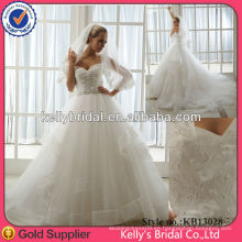 2013 la más popular hermosa A línea de vestidos de novia de la moda