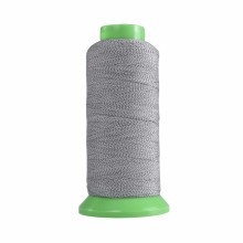 bordado de hilo reflectante gris plata para coser