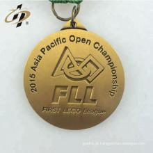 3D personalizado seu próprio logotipo barato liga de metal esportes correndo medalhas