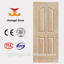 Interior barato hdf 4 panel lumbrera puerta de madera