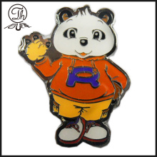Pin de metal de dibujos animados Bear