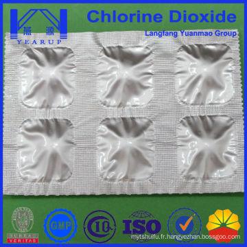 Tablette / poudre de dioxyde de chlore pour boire de l'eau