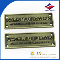 Professional custom antique bronze metal name plate with logo
