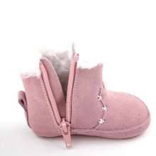 Snow Plush Äkta Läder Baby Boot