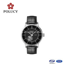 Sapphire Crystal Genuine Leather Band Fashion Luxury Mechanical Watch