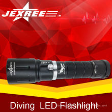 LED imperméable à l'eau appareils de plongée d'arrivée conduit torche de plongée