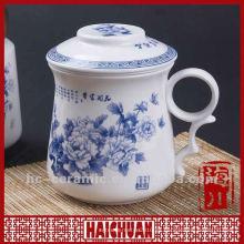Taza de infusión de té de cerámica, taza de té con infuser