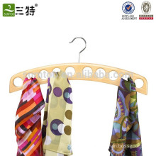 10 scarves Organizer wooden scarf holder