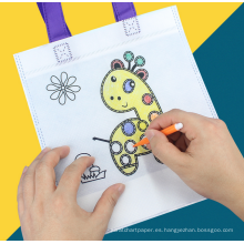 regalo de promoción KIDS DIY PP bolso no tejido de la tela con el crayón