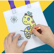 presente de promoção KIDS DIY PP saco de tecido não tecido com lápis