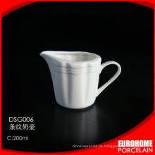 Eurohome Neuheiten aus China Porzellan weiß Milchkännchen