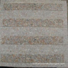 Wulian Red Granite Tactile Tile, Also Called Blind Stone Tile, in Pink,for Blinders' Safety Walking