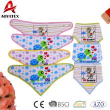 washable baby bibs triangle bandana printed cotton kids bibs