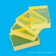 Feuille PU transparente de l'épaisseur 1-120mm jaune pour l'emballage