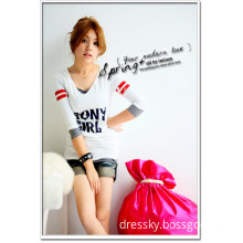 Korean Style Character Sport Style T-shirt