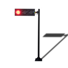 poteau directionnel temporaire de feu de signalisation de 125 mm