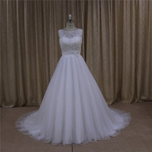 Crystal Beaded Real Sample Wedding Dress