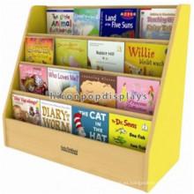 Sturdy Libro Tienda Merchandise Pisos Display Comercial de 4 capas de madera de bambú Kids Book titular