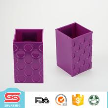 Titular brilhante da pena da cor do escritório plástico durável de venda quente com forma quadrada