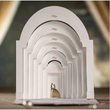 Invitación de boda de lujo Tarjeta de invitación de boda 3D