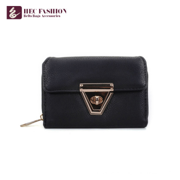 HEC Wholesale Fashion Designer Sacs D'argent En Cuir PVC Portefeuille De Téléphone Portable