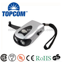 2 led manual dynamo torch with charge hole TP-PH011