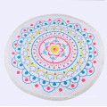polyester towel print round table cloth used