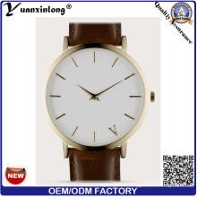 Yxl-276 Nuevo estilo promocional Reloj de pulsera de cuarzo de cuero de diseño personalizado Casual Vogue Watch Hombre Mujer OEM de fábrica