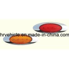 Lampe de marquage latéral de forme ovale