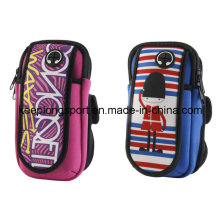 Full Colors Printing Fashion Neoprene Armband Phone Case