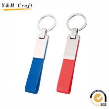 Haute vente PU porte-clés en cuir pour laser gravé (Y02043)