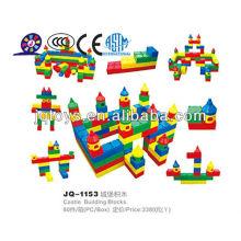 2019 plástico grande castelo blocos de construção para crianças