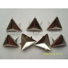 Triângulo / formas quadradas de prata e ouro metálico clavícula de pino, indústria de hardware