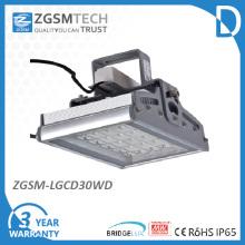 30Вт toughed стекло IP65 вело приспособление высокого залива светлое