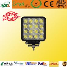 12V 48W LED Luz de trabajo Impermeable IP67 Lámpara LED para automóvil para ATV, SUV, Camión, Jeep Nsl-4816A-48W