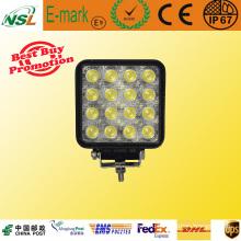 12V 48W Светодиодный рабочий свет Водонепроницаемая лампа IP67 Автомобильная светодиодная лампа для квадроциклов, внедорожников, грузовиков, Jeep Nsl-4816A-48W