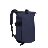 ODM blue canvas backpack with leather trim sealline urban backpack youth for travel