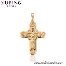 33777 xuping colgante religioso de la nueva cruz del oro del estilo para las señoras