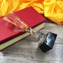 Fabricación profesional trofeo de cristal barato premio