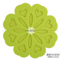 Creative home fashion silicone rose cup mat
