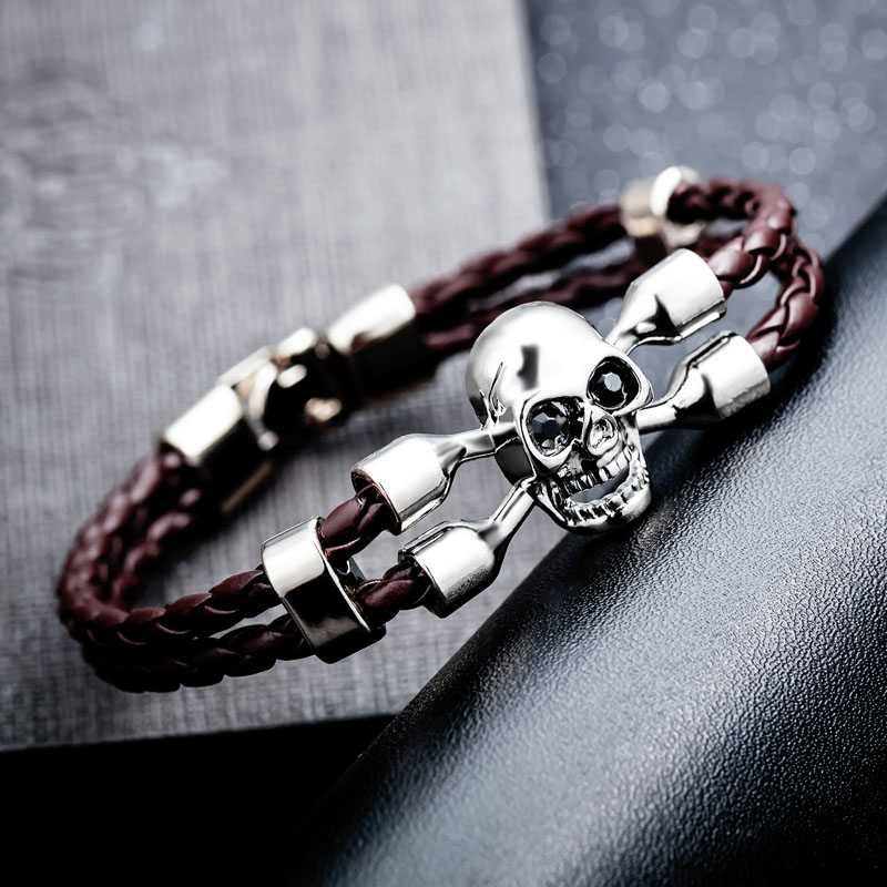 mens leather bracelets cheap