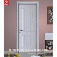 Excellente qualité à bas prix couleur blanche peinture intérieure porte en bois