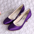 Satin violet chaussures talons chaussures chaussures de mariage