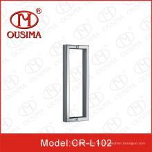 Tubo cuadrado de acero inoxidable doble puerta de cristal de la manija de la puerta