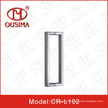 Stainless Steel Square Tube Double Sided Glass Door Handle