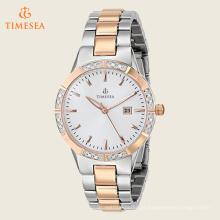 Mulheres relógio com Japão Movt aço inoxidável Setting Stones Watches71196