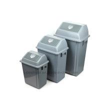 Lixeira de plástico de 60 litros para exterior