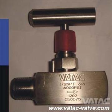 Vanne à aiguille mono-bride Ss316 / F316 6000 Psi / Wog Needle Valve