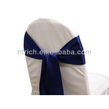 navy blue, fancy vogue satin chair sash tie back,bow tie,knot,wedding cheap chair covers and sashes for sale